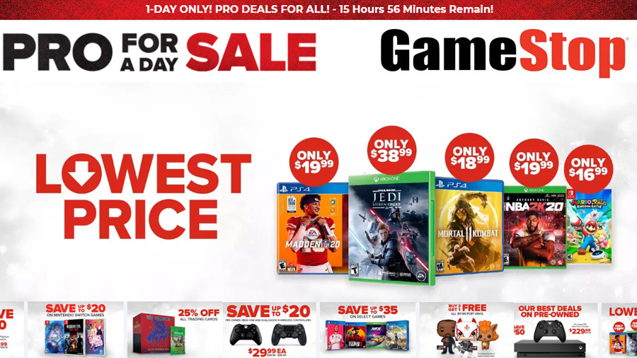 Everyone Gets Pro Member Pricing And Deals At Gamestop Today Dailygamedeals