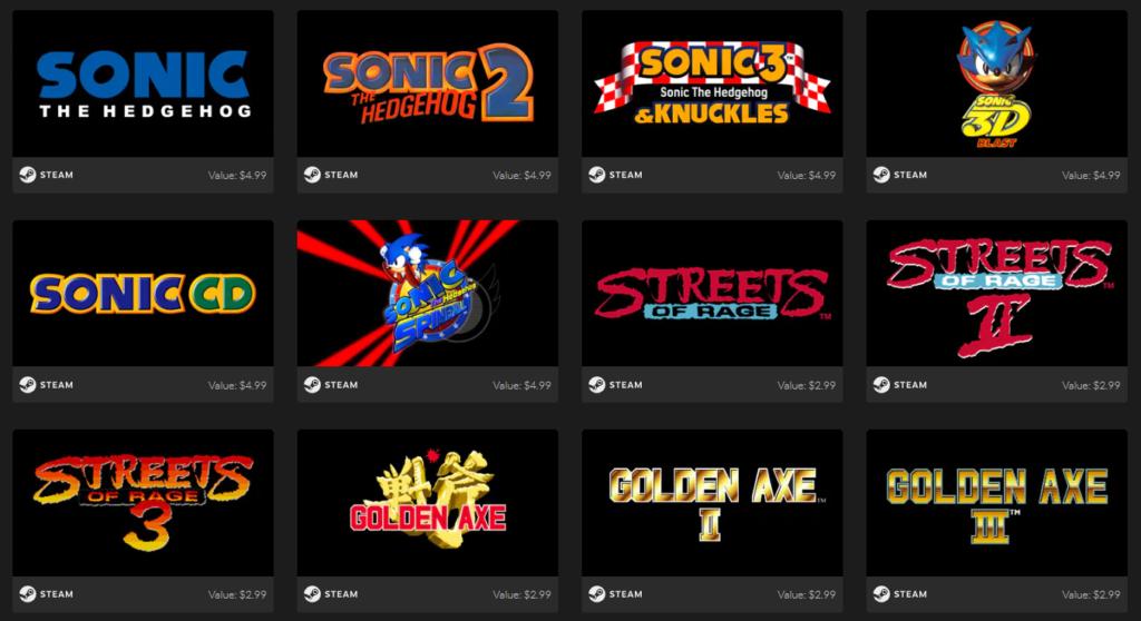 SEGA Mega Drive & Genesis Classics Bundle Games 1