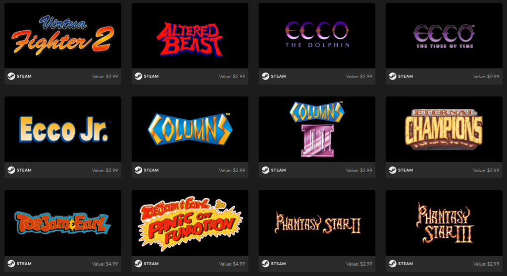 SEGA Mega Drive & Genesis Classics Bundle Games 2