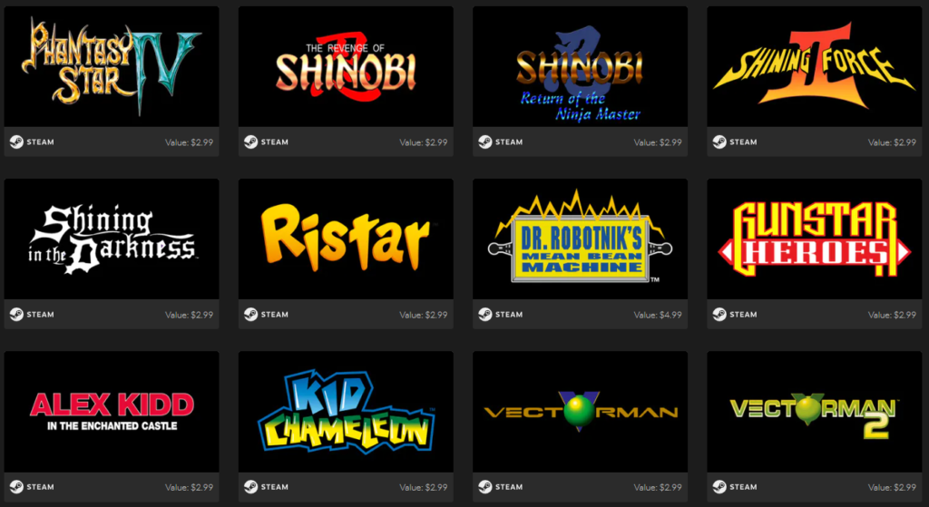 SEGA Mega Drive & Genesis Classics Bundle Games 3