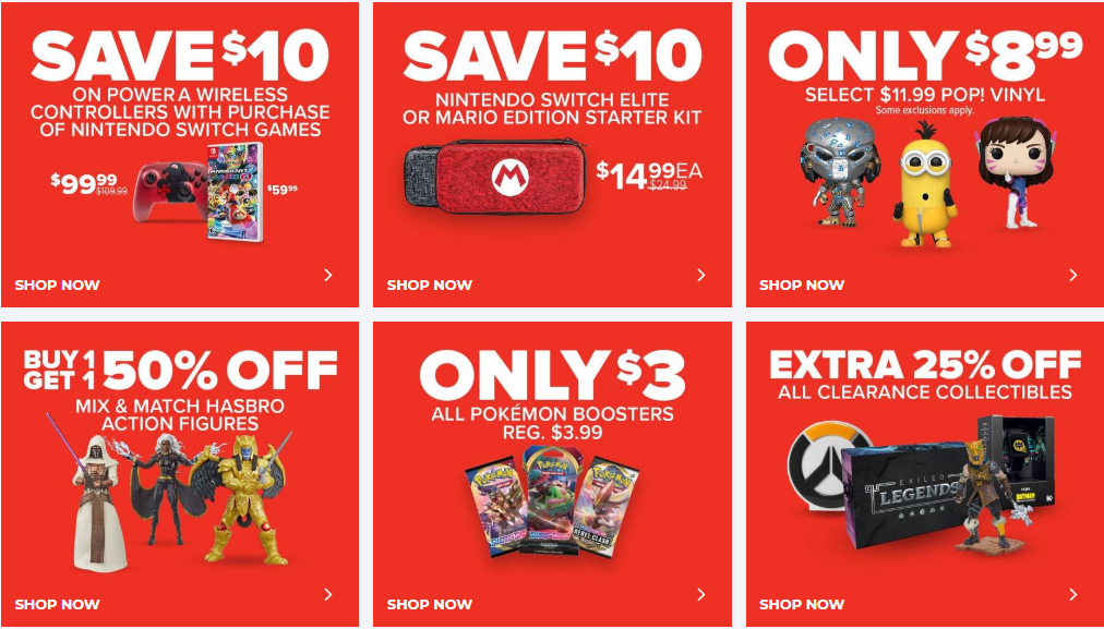 GameStop Sale Featured Items