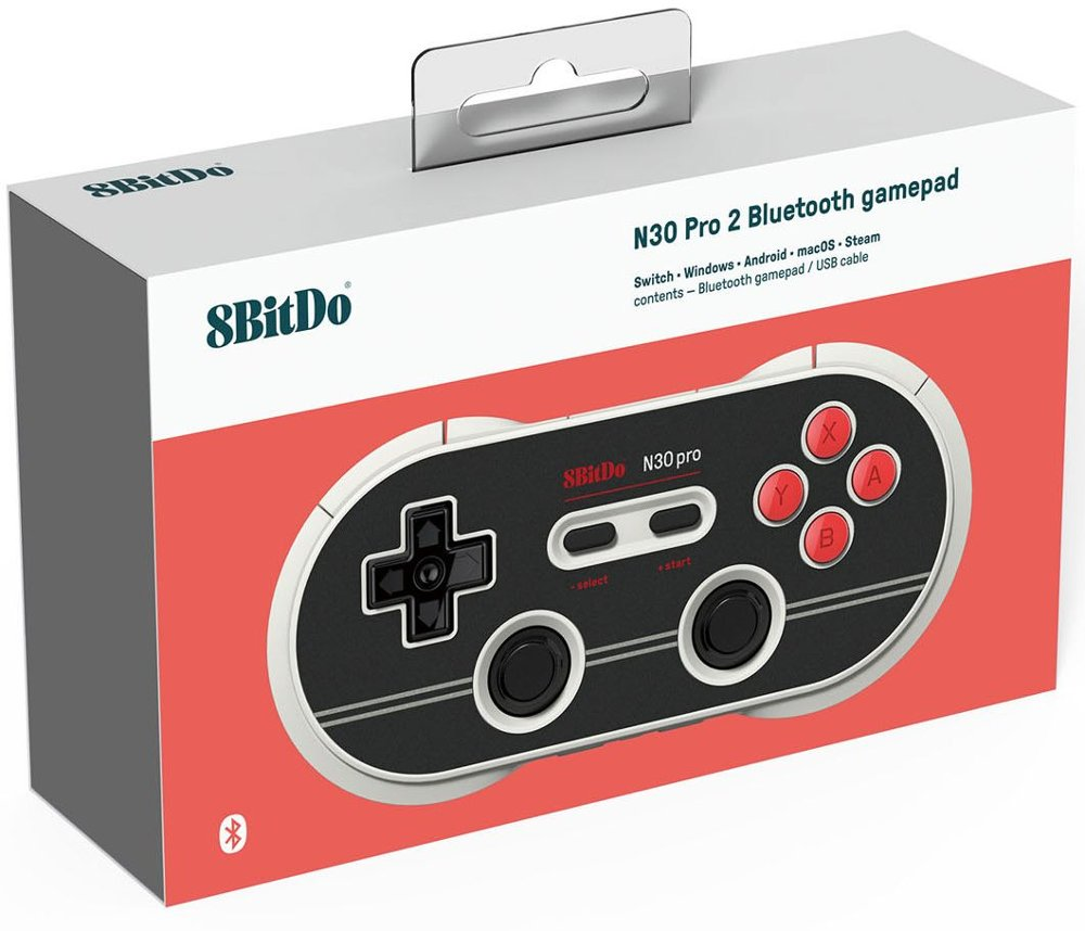 8BitDo - N30 Pro 2 Wireless Controller for PC, Mac, Android, and Nintendo Switch