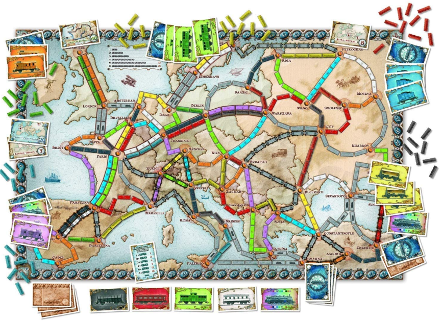 Ticket to Ride Europe Game Board