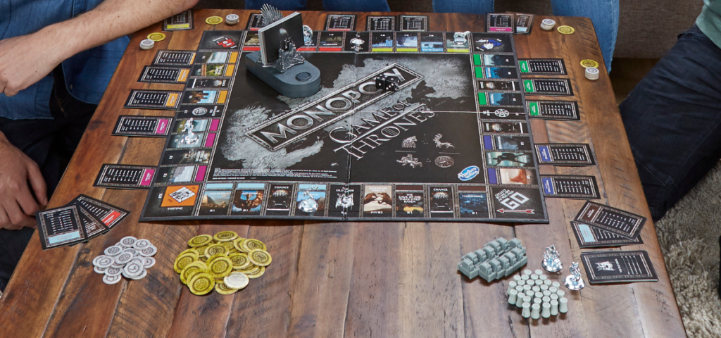 Game of Thrones Monopoly Game Board and Gamepieces