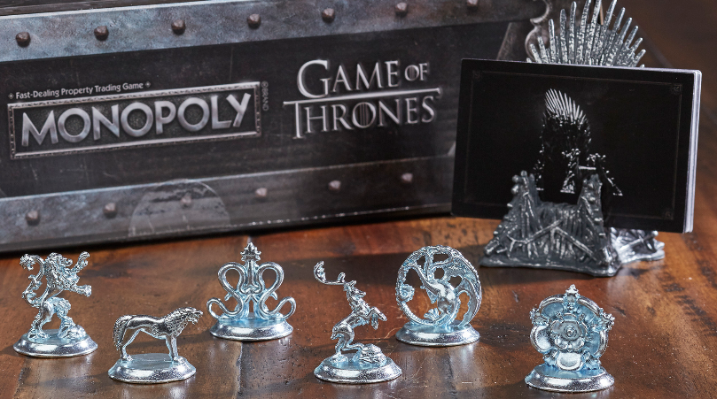Game of Thrones House Game Tokens and Iron Throne Card Holder
