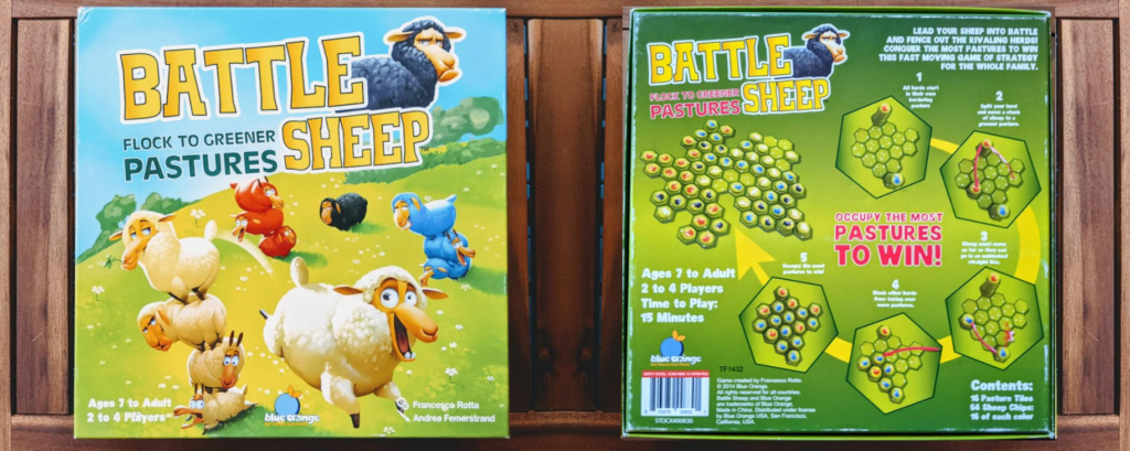 Battle Sheep box, front and back