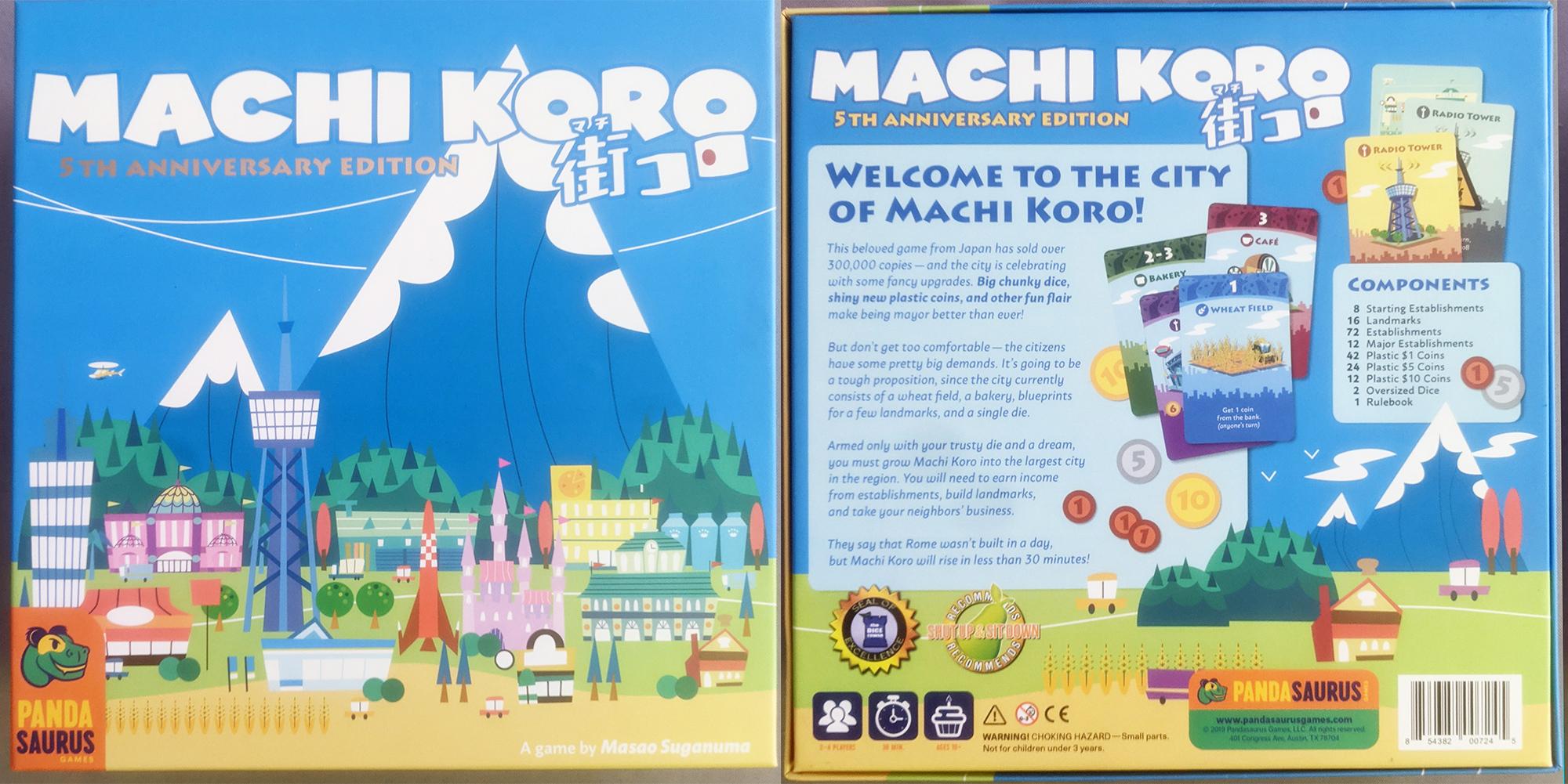 Machi Koro 5th Anniversary Edition from Pandasaurus Games - Box Art